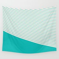 tiffany Wall Tapestries featuring Tiffany Stripes by TheSmallCollective