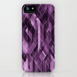 Abstract violet pattern iPhone Case