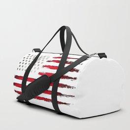 Red Vintage American Flag Duffle Bag