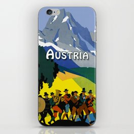 Austria - Vintage Travel Ad iPhone Skin