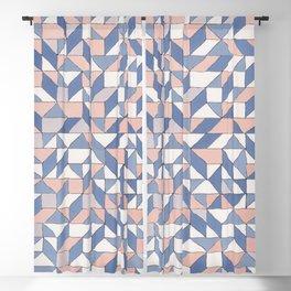 Shifting geometric pattern Blackout Curtain