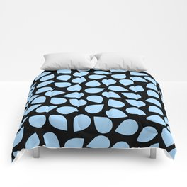 Light Blue Petals Comforters