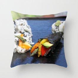 Sushi California Roll Throw Pillow