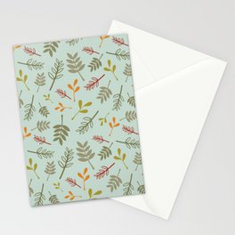 Floral Foliage Pattern in Autumn Colors Stationery Cards