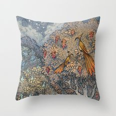 Small secrets of the forest Throw Pillow