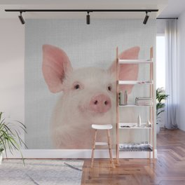 Pig - Colorful Wall Mural