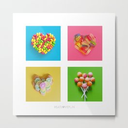 For the Love of Candy Metal Print