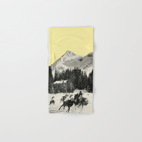 Winter Races Hand & Bath Towel