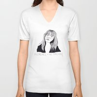 florence V-neck T-shirts featuring Florence by ☿ cactei ☿