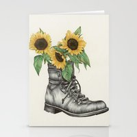 shoe Stationery Cards featuring Shoe Bouquet I by The White Deer