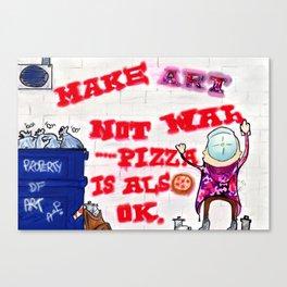 Make Art Not War ! Canvas Print