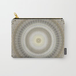 Silver Grey Paper with Gold Mandala Carry-All Pouch
