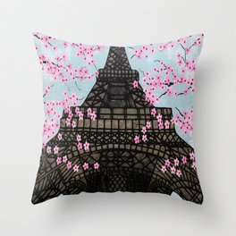 The Eiffeltower Throw Pillow