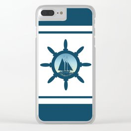 Sailing scene Clear iPhone Case