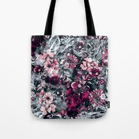 dahlia Tote Bags featuring Dahlia by RIZA PEKER
