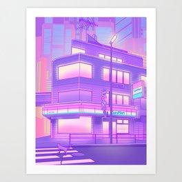Konbini Nights Art Print