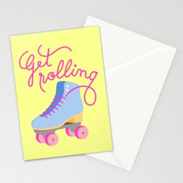 Get Rolling (Yellow Background) Stationery Cards