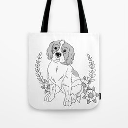 Otis and flowers Tote Bag