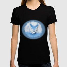 Sleeping Fennec Fox Blue T-shirt
