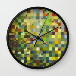 This Grid Is From Somewhere Within Me Wall Clock