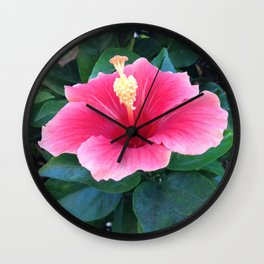 The Hibiscus Among Us Wall Clock