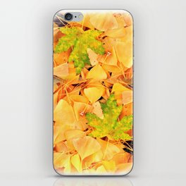 Leaves Yellow and Green iPhone Skin