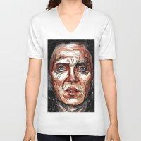 christopher walken V-neck T-shirts featuring Walken by Dnzsea