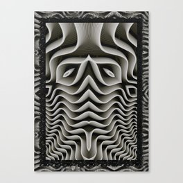 Exo-skelton 3D Optical Illusion Canvas Print