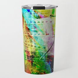 Abstract Electric Guitar Travel Mug