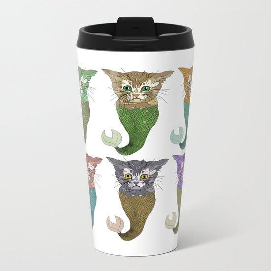 Cat Fish Metal Travel Mug