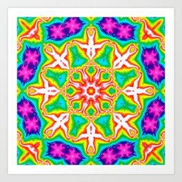Rainbow Kaleidoscope Art Print