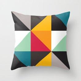 Geometric Pattern 30 (triangles) Throw Pillow