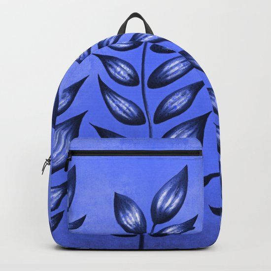 Blue Plant With Pointy Leaves Backpack