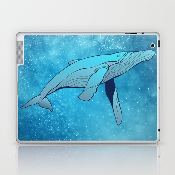Whale in Space Laptop & iPad Skin