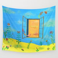 desert Wall Tapestries featuring desert by Francesca Sai