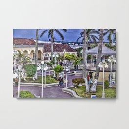 Parque Principal de Alvarado, Veracruz Metal Print