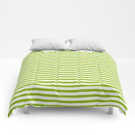 Apple Green & White Maritime Small Stripes- Mix & Match with Simplicity of Life Comforters