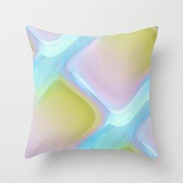 Pastel pattern blue river Throw Pillow