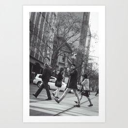 Crossing the Boulevard Art Print