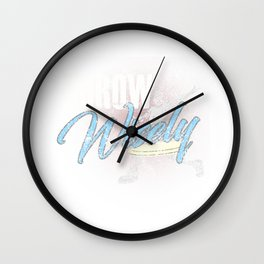 Throw Wisely Funny Distressed Disc Golf Wall Clock