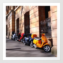 Scooters Art Print
