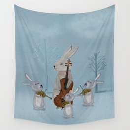 the bunny quartet Wall Tapestry
