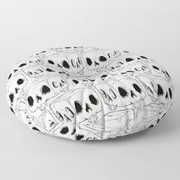Infinite Square Skulls  Floor Pillow