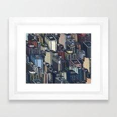 In the city Framed Art Print