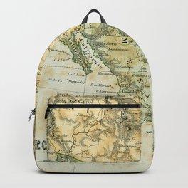 North America Vintage Encyclopedia Map Backpack