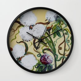Cotton Squared Wall Clock