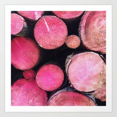 pink trunks Art Print
