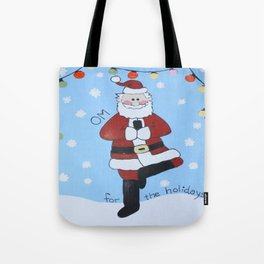OM for the Holidays - Wild Veda - Holiday Card Tote Bag