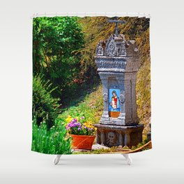 Traditional domestic cross Shower Curtain