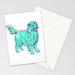 The happy GOLDEN RETRIEVER Love of My Life - your Golden dog keeps you smiling! Stationery Cards